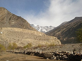 Himalayas seen from Jomsom to Beni