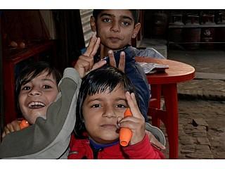 Local children posing up