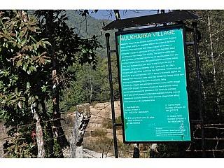 Mulkharka Village history on the board