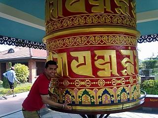 Om Mani Padme Hum Twirling Prayer Wheel