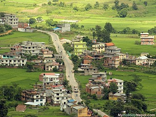 Road from kathmandu to Tau Daha leading to Dakshinkali