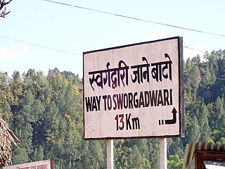 Sign post at Bhingri
