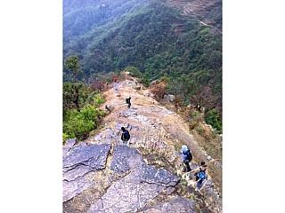 Slipery downhill from siurung to Bhulbhule