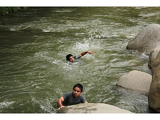 Swimming in Roshi River, Balthali, Panauti