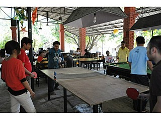 Table Tennis Board at Sukute Beach Nepal