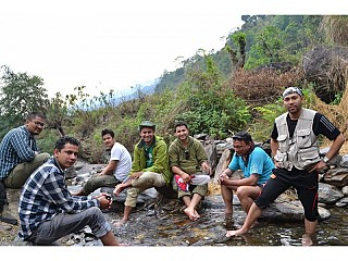 Team for Honey Hunting at Lamjung