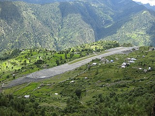 The runway of the Talcha Airport