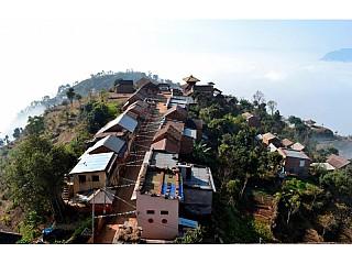 View of Bhairabi Temple from Nuwakot Durbar