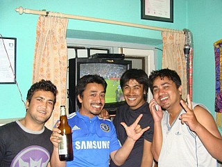 chelsea fans...all smiles after the win..