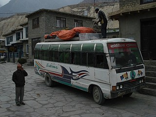its time for luggage Off at Jomsom