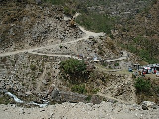 not so good Road but at least we have road towards Jomsom