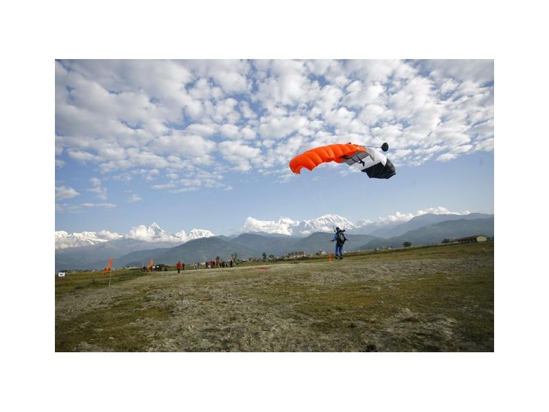 Skydive in Pokhara Nepal - My Holiday Nepal Travel Blog