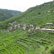 Local settlement at Mahabepather Khola