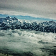 Everest and Manaslu during flight
