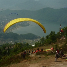 View from Paragliding point