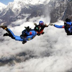 Team Work at sky dive in nepal