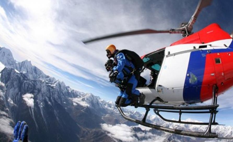 Here we go skydive Nepal