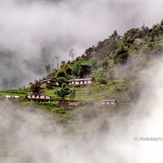 Nepali Houses above the cloud