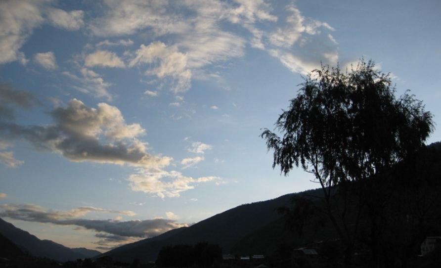 Sunset at jumla