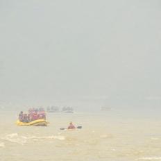 Rafting in Nepal at Trishuli river