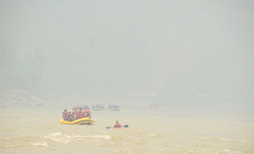 Rafting in Nepal at Trishuli river