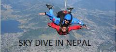 Sky dive in Nepal