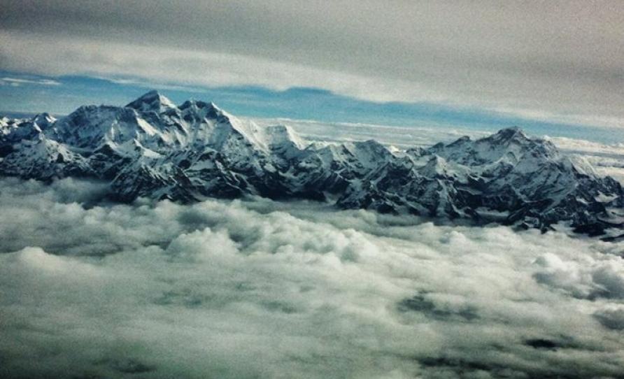 Everest and Manaslu during flight