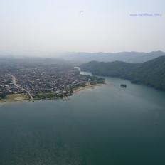 Fewa lake seen during Paragliding