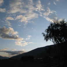 Sunset at jumla