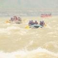 Rafting boat in sequence