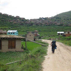 Tatopani Bazaar at Jumla