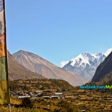 Prayers flag around Lantang Nepal