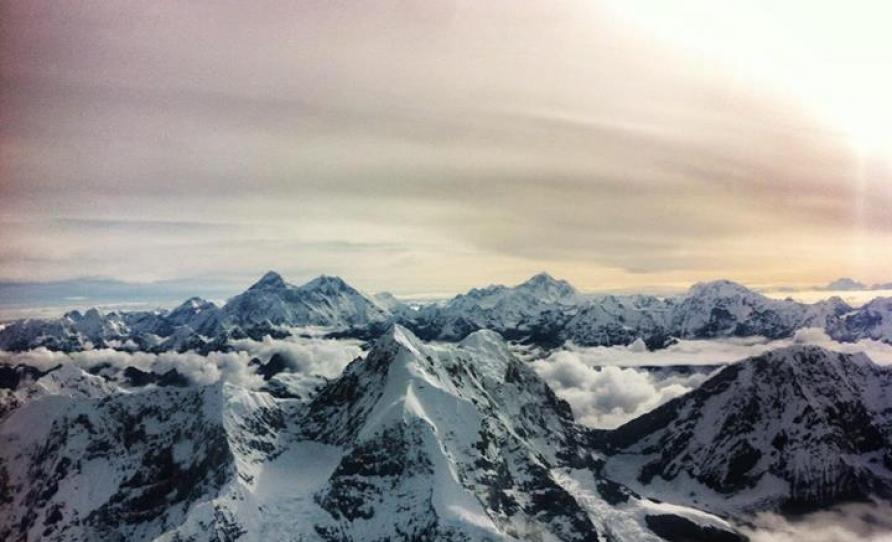 Mount Everest and Mount Manaslu