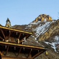 Muktinath temple below Nilgiri Mountain