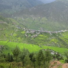 View of Gamgadi Bazaar on way to Talcha Airport